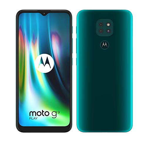 "Motorola moto g9 play (tripla fotocamera 48MP, batteria 5000 mAh, display Max Vision 6.5"", Octa-core Qualcomm Snapdragon 662, Dual SIM, 4/64GB, Android 10), Evergreen"