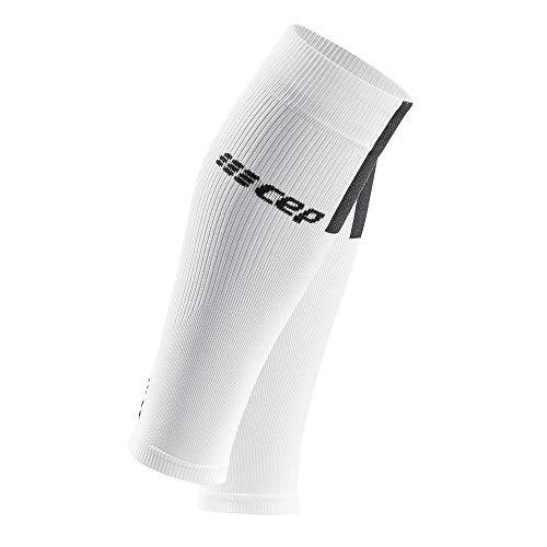 CEP – Calf Sleeves 3.0 für Herren | Beinstulpen für exakte Wadenkompression in weiß/grau | Größe III