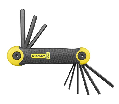 Stanley 269265 Folding Hex Key Set - Imperial (9 Pieces)