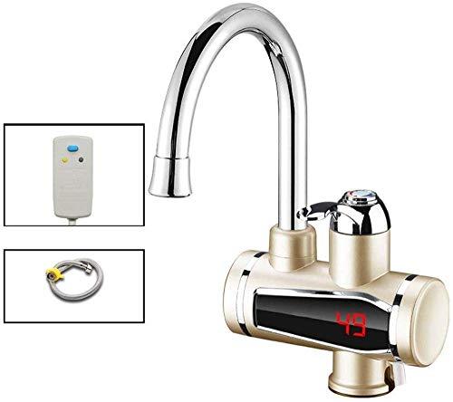 LXYZ Grifo Calentamiento rápido eléctrico Calentamiento instantáneo Rápido a través del Agua del Grifo Calentador de Agua termoeléctrico Pantalla Digital para el hogar Pantalla de Temperatura