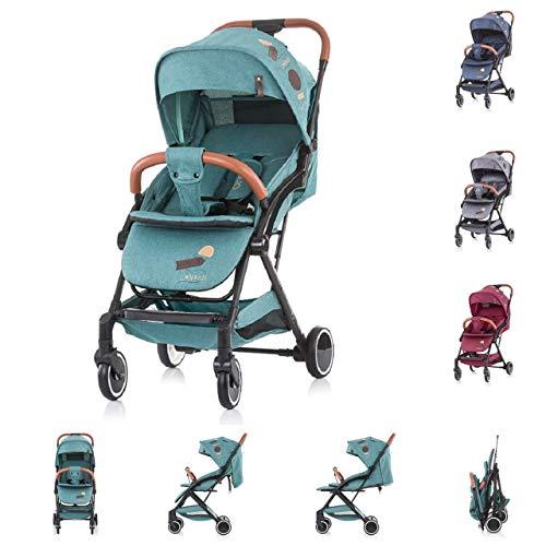 Chipolino Kinderwagen Buggy Oreo bis 22 kg Schwenkräder vorne, 1-Hand Faltsystem, Farbe:grün