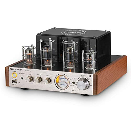 Nobsound MS-10D MKII Tube Amplifier Bluetooth/USB/Headphone Amp BASS&Treble HiFi Verstärker Audio Receiver Stereo Röhrenverstärker