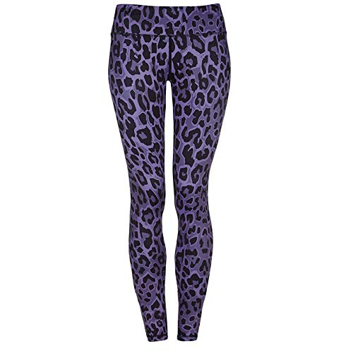 Yoga Pants For Women,Women Fashion Purple Leopard Print Fitness Leggings High Waist Elastic Gym Slim Yoga Trousers Professional Running Quick-Drying Pants Sportswear