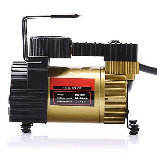 BUSUANZI 12-V-Reifenfüllpumpe Tragbarer Luftkompressor 130 PSI 12-V-Elektrik Mit 4 Düsenventiladaptern Für Autoräder Und Andere Automobile