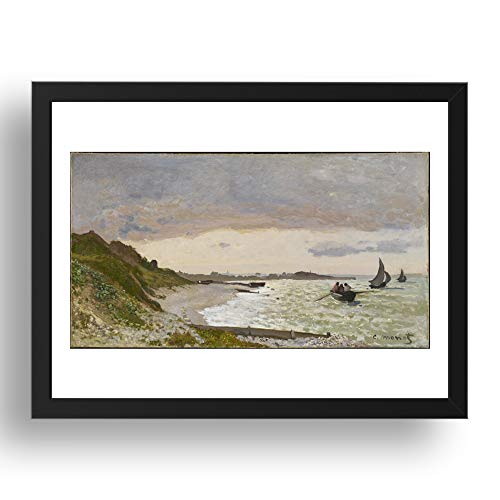 Period Prints Bilderrahmen, Motiv Küste bei Ste Adresse, 1864 von Claude Monet, 17 x 13 cm (A3)