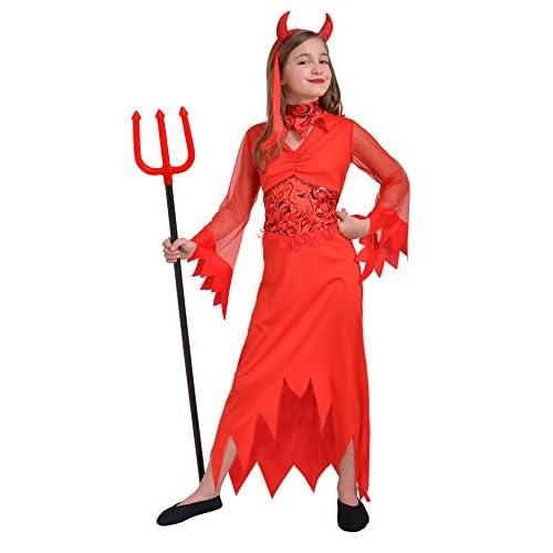 Ciao - Costume per Bambini, Rosso, 8-10 anni, 13025.8-10