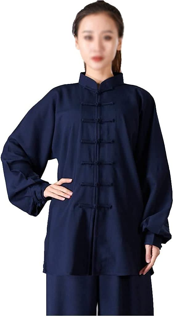 Soldering ZHANGWW Traditional Max 77% OFF Tang Kung Fu Uniform Cotton Linen Stretch Ta