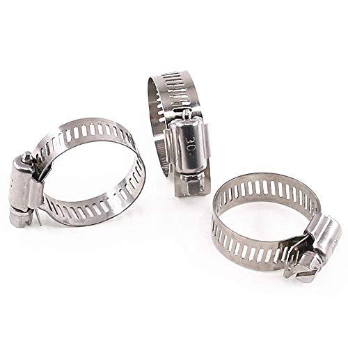 10PCS Mordazas para Tuberías 18-32mm Abrazadera de Manguera Ajustable Clip de Tubo de Worm Drive Engranaje Abrazaderas de Tornillo Sinfín Metálico