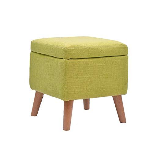WXXSL Taburete de tela otomana, de madera maciza, extraíble y lavable, cubo de almacenamiento de juguetes, caja de libros para el hogar, sala de estar, dormitorio, sofá taburete