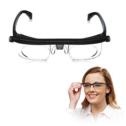 Daka Einstellbare Dial-Augen-Gläser, Reader Brille Mit Variablem Fokus Glas Für Entfernung Oder Lesebrille Myopie Brille (Mit Kasten)