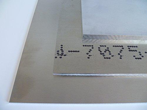 B&T Metall Aluminium Blech-Zuschnitt hochfest 7075, blank gewalzt natur | 25,0mm stark | Größe 30 x 30 cm (300 x 300 mm)