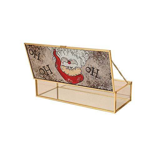 JIANWEI Nordic Retro Hand-painted Cosmetic Rectangular Desktop Storage Box Furnishings Decorative Box (Color : B)