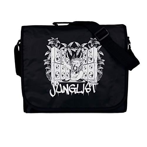 Junglist Lion DJ Messenger Bag Record Drum & Bass LP Vinyl Shoulder Laptop Mens (One Size)