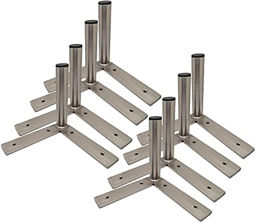 FAWFDF 8 patas de muebles de acero inoxidable, patas de metal para sofá, patas de metal, gabinete de mesa, taburetes de repuesto para muebles, color plateado