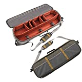 Aventik Multi-Function Fishing Rod&Gear Case All in One Easy Carry Super Light Weight Compartment Adjustable