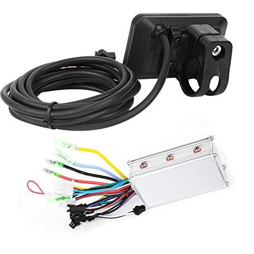 Weikeya Controlador de Motor Ligero, Motor sin escobillas eléctrico 63 * 40 * 40 mm 350W 36V con plástico y LCD y Metal