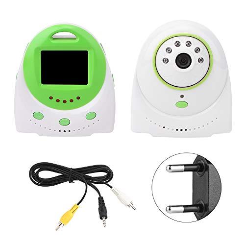 Monitor de bebé, cámara de alarma LCD de temperatura Control de voz Pantalla de TV de aspecto nocturno 2.4G para bebé, mascota, niñera,(European regulations)