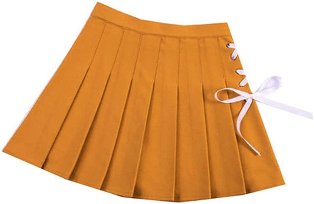 NP Women Pleated Skirts Summer Waist Dance Mini Skirt Preppy Female Skirts