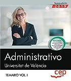Administrativo. Universitat de València. Temario. Vol.I: 1