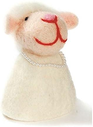 Preisvergleich für Eierwärmer aus Filz Tiere Hund Schaf Eier Wärmer Weihnachten Ostern Winter Herbst Frühjahr, Variante:Schaf weiß