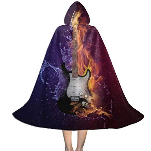 Amanda Walter Capa con Capucha para nios de Guitarra de Hielo y Fuego para la Fiesta de Navidad de Halloween, Disfraz de Vampiro Brujo Mago de Cosplay para nios con Sombrero