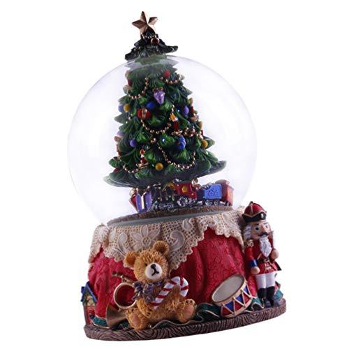 non-branded Árbol de Navidad Bola de Nieve Bola de Cristal Musical Invierno Brillo Arte Globo de Agua Caja de Música Adorno de Escritorio Navidad Vacaciones Regalo de Cumpleaños para Niños