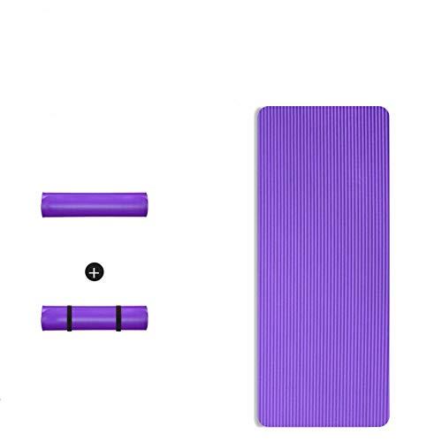 N-B 200cm * 90cm15 MM Estera de Yoga Alargada y Gruesa Estera de Yoga Antideslizante Protección del Medio Ambiente Estera de Ejercicio físico Antideslizante Hombres y Mujeres Ejercicio Especial