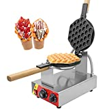 CGOLDENWALL NP-547 Commercial Electric Non-Stick Egg Bubble Waffle Maker Iron...