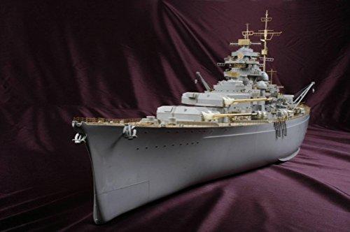 MK Design - Pacchetto di dettagli per modellino Trumpeter della corazzata Bismarck, scala 1:200