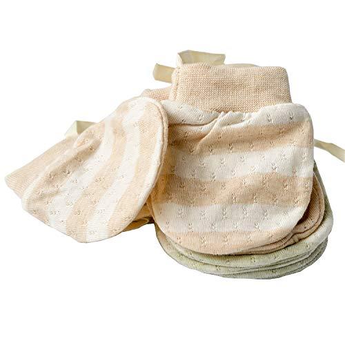 Ultradünne Baby-Fäustlinge für Neugeborene, besonders dünn, kratzfest, atmungsaktiv, Bio-Baumwolle, rutschfest, für Babys von 0–6 Monaten