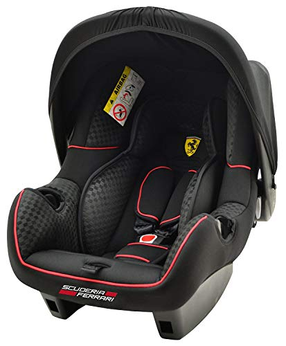 BeONE SP FERRARI BLACK Babyschale Kinderautositz 0-13 kg, ECE Gruppe 0+, Schwarz