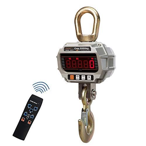 CGOLDENWALL Báscula electrónica portátil para colgar báscula digital industrial de alta precisión de grúa inteligente (2000 kg con control remoto)