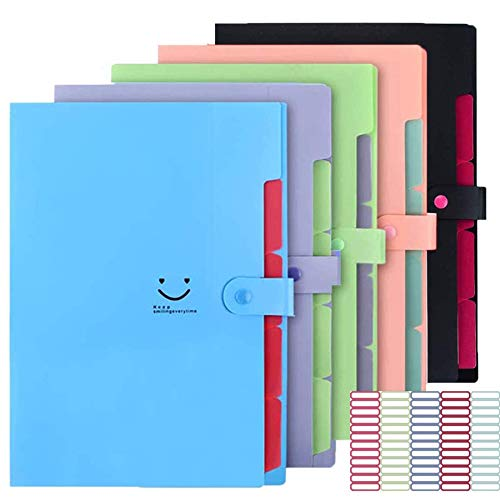 5 Pack Expanding File Folders Ac...