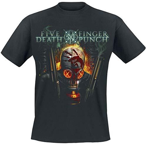 Five Finger Death Punch Guns Gas Mask T-Shirt schwarz L