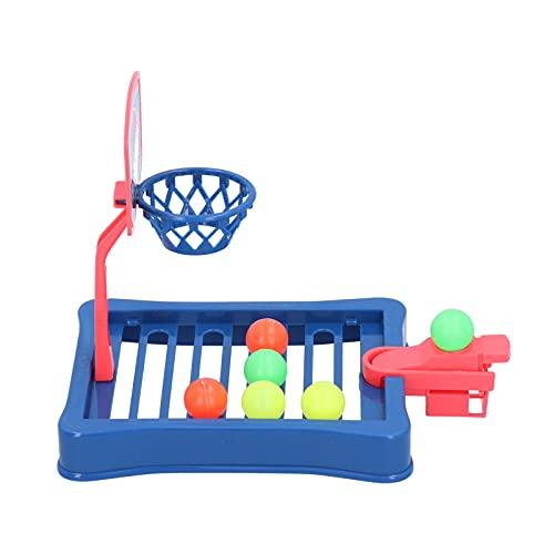 SALUTUY Mini Juego de descompresión de Baloncesto Gadget Toy, Maravilloso Regalo para niños, niños, Mesa, Mini Baloncesto, Juego de Disparos, Juguetes para Oficina, Escritorio, hogar(Blue)