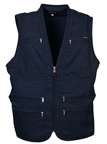 Men's 9 Pockets Work Utility Vest Military Photo Safari Travel Vest (XL, Dark Navy)