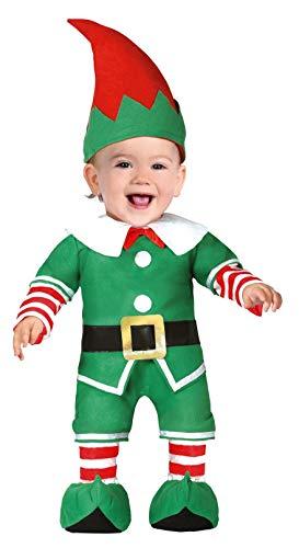FIESTAS GUIRCA Disfraz de Elfo ayudante ayudando a Santa Claus recién Nacido