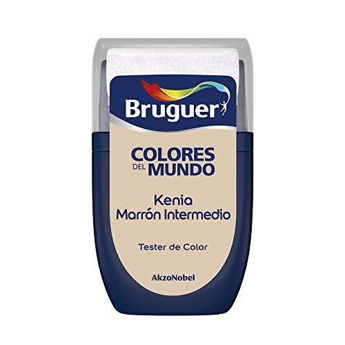 Bruguer Tester Colores del Mundo Pintura para paredes monocapa Kenia Marrón Intermedio, 0.030 litros
