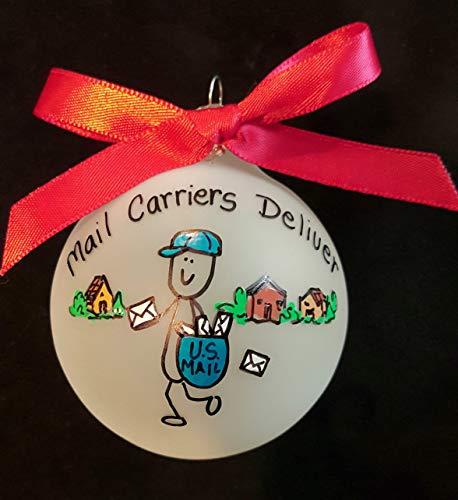 73Elley Custom christmas ornament for postman personalized ornament for mail man christmas tree decor gift for mail carrier