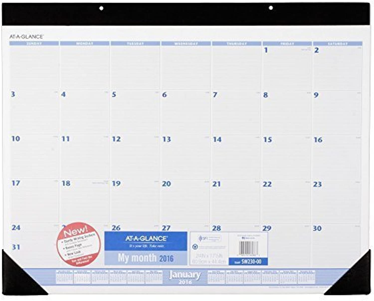 AT-A-GLANCE Desk Pad Calendar 2016, 12 Months, 24 x x x 17-1 2 Inches (SW230-00) by ACCO Brands B018OQBMJE | Komfort  93bfe1