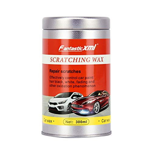 300ML Scratch and Swirl Remover Kit - Car Paint to Scratch Artifact - Ultimate Car Scratch Repair - Polish Paint Restorer - Maintenance Wax Care Grinding Polishing Liquid with Sponge (White)