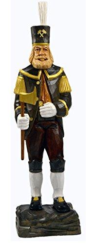 mumba® Holzfigur Bergmann mittel 34cm handgeschnitzt aus Lindenholz