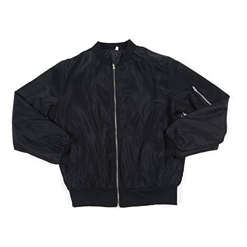 #N/V Chaqueta clásica acolchada para mujer corta clásica acolchada bomber chaqueta para mujer con cremallera hasta abrigo de motociclista envío de la caída