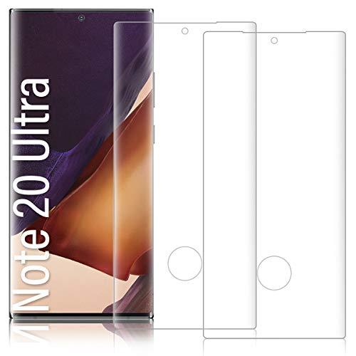 Shalwinn 2 Stück Fingerabdruck-ID unterstützen Panzerglas folie Panzerglasfolie für Samsung Galaxy Note 20 Ultra,3D Vollständigen Abdeckung/9H Härtegrad/Anti-Kratzen/Anti-Bläschen Schutzfolie