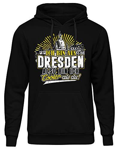Cooler als du Dresden Männer Herren Kapuzenpullover | Fussball Skyline Trikot Sport Ultras Fun (XXL)
