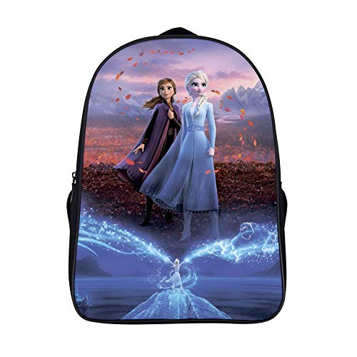 16.5 inches Backpackfor Frozen 2 fans, Anna Elsa (6),Unisex School Bookbags, Cute Laptop Bag,waterproof Casual Travel Hiking Camping daypack for Boys Girls Kids