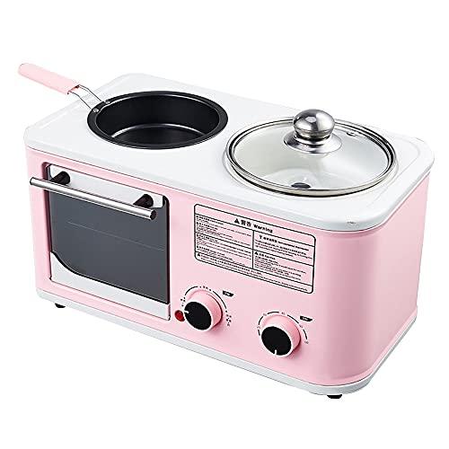Mini Horno MultifuncióN, MáQuina De Desayuno Tres En Uno Para El Hogar, Control De Temperatura De 100 ° C-250 ° C, Temporizador De 60 Minutos, Puede Cocinar Una Variedad De Cocinas