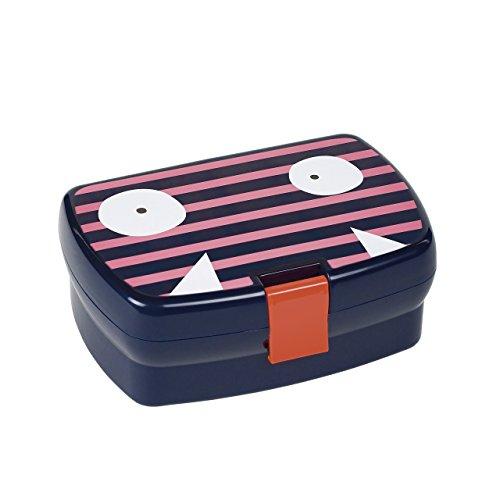 LÄSSIG Kinder Brotdose Lunchbox Snackbox spülmaschinengeeignet/Lunchbox, Little Monsters Mad Mabel