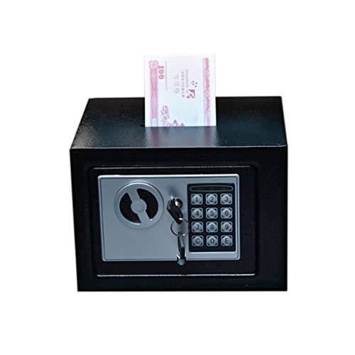 Hucha Banco de Dinero Piggy Banco Caja de Seguridad Cajas de Dinero for Las Monedas Digitales Niños Efectivo Ahorro Caja Fuerte Mini Money Bank decoración del hogar (Color : Black)
