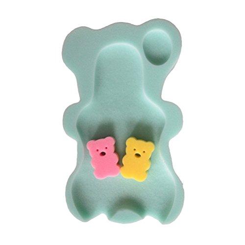 YeahiBaby Tappetino di supporto in spugna per bagnetto Sedile Supporto per il Bagno per neonati bambini (Verde)